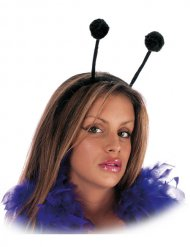 Diadema antenas negras adulto