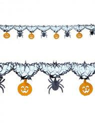 Guirnalda arañas y calabaza Halloween