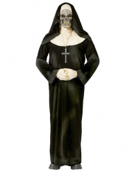 Disfraz de monja zombie Halloween negro y blanco adulto