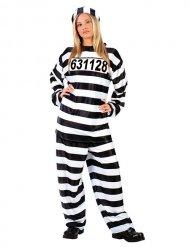 Disfraz prisionero mujer negro y blanco
