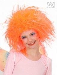 Peluca reina de las hadas naranja niña