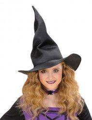Sombrero negro de bruja plegable para niño