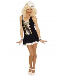 Disfraz mujer marinera sexy negro y blanco
