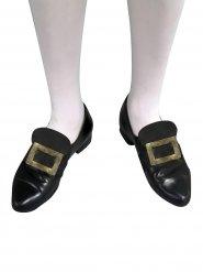 Hebilla de zapatos dorada