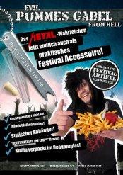 Tenedores para patatas fritas heavy metal