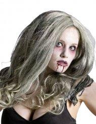Peluca de reina zombie mujer