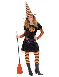 Disfraz niño brujo negro-naranja
