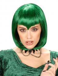 Peluca corta de vampiro verde