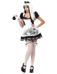 Disfraz Alicia negro y blanco sexy mujer Halloween