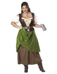 Disfraz tavernera medieval con corsé mujer