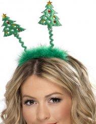 Diadema pinos con piel adulto Navidad