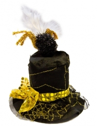 Sombrero telaraña negro y oro adulto