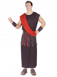 Disfraz hombre Roma Antigua rojo y negro