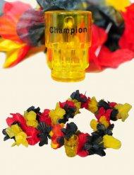 Collar de flores Alemania con vaso chupito