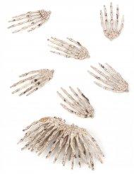 Lote de12 manos de esqueleto Halloween