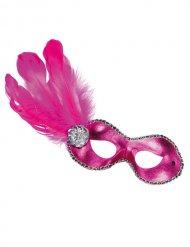 Máscara veniciana mujer rosa