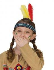 Cinta indio con plumas niño