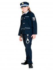 Disfraz uniforme policía niño azul