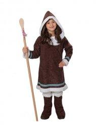 Disfraz esquimal marrón niña