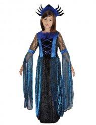 Disfraz reina de las arañas negro y azul para niña Halloween