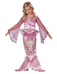 Disfraz sirena rosa niña