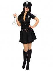 Disfraz de policía sexy mujer negro