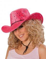 Sombrero cowgirl rosa