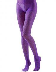 Medias brillantes violeta adulto