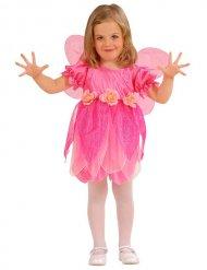 Disfraz hada flores rosa niña