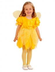 Disfraz hada con flores amarillo niña