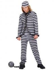 Disfraz prisionero negro y blanco niño