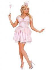 Disfraz reina de las hadas rosa mujer