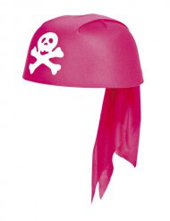 Bandana pirata niña rosa