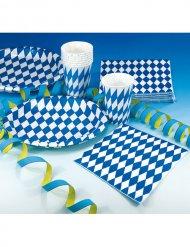 20 Servilletas decorativas bávaras azul y blanco