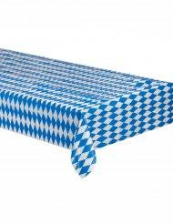 Mantel bávaro a cuadros azul y blanco 260 x 80 cm