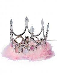 Corona de princesa plata y rosa