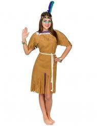 Disfraz india mujer castaña