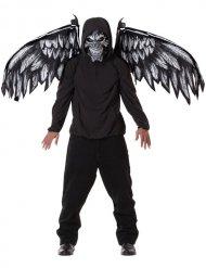 Máscara ángel de la muerte y alas