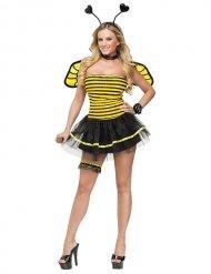 Disfraz abeja negra y amarilla sexy mujer