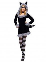 Disfraz mapache mujer sexy