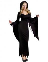Disfraz bruja gótica Halloween mujer negro