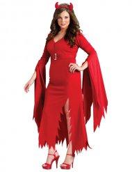 Disfraz diablo Halloween rojo mujer