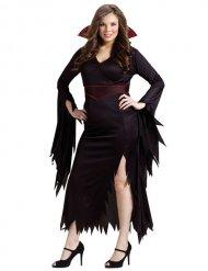 Disfraz de vampiresa gótica Halloween mujer talla grande