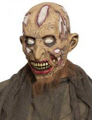 Máscara zombie cuarteado adulto