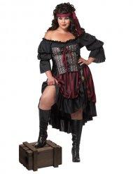 Disfraz pirata negro talla grande mujer