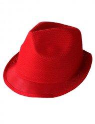 Sombrero Trilby rojo