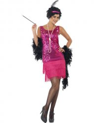 Disfraz de charleston rosa para mujer
