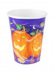 8 Vasos calabaza feliz Halloween