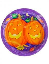 Platos Halloween calabazas 23 cm