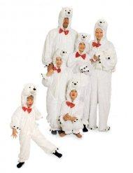 Disfraz peluche oso polar adulto